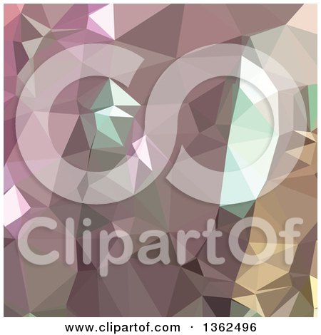 Clipart of a French Lilac Purple Low Poly Abstract Geometric Background - Royalty Free Vector Illustration by patrimonio