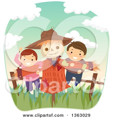 Royalty-Free (RF) Scarecrow Clipart, Illustrations, Vector Graphics #1
