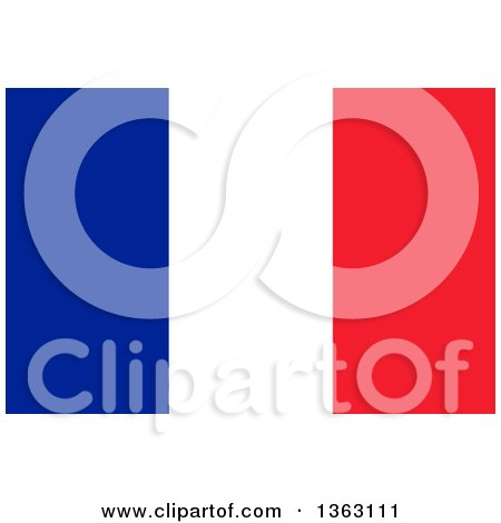Clipart of a French Flag Background - Royalty Free Illustration by oboy