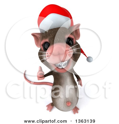Royalty-Free (RF) Clipart Illustration of a 3d Christmas Mouse ...