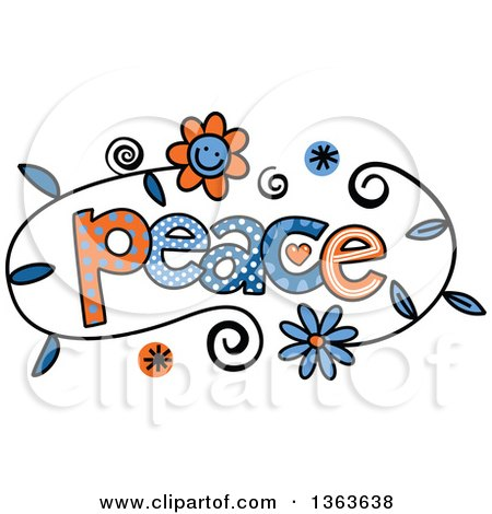 Clipart of colorful sketched peace word art royalty free vector clipart of colorful sketched peace word art royalty free vector illustration by prawny voltagebd Choice Image