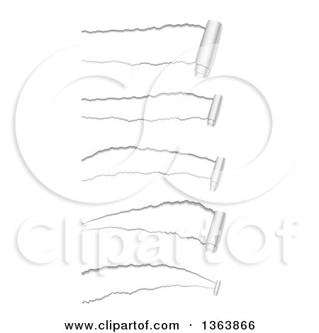 Clipart of Ripped Paper Designs - Royalty Free Vector Illustration by vectorace