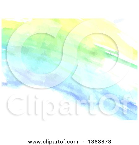 Clipart of a Watercolor Paint Background - Royalty Free Vector Illustration by vectorace