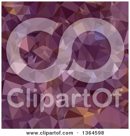 Clipart of an Antique Fuchsia Purple Low Poly Abstract Geometric Background - Royalty Free Vector Illustration by patrimonio
