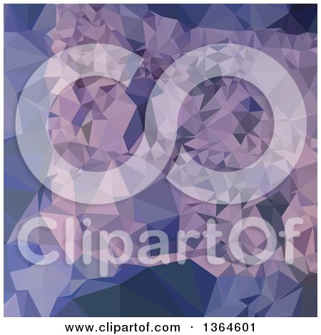 Clipart of a Cool Grey Blue Purple Low Poly Abstract Geometric Background - Royalty Free Vector Illustration by patrimonio