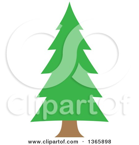 Clipart of a Conifer Evergreen Tree - Royalty Free Vector Illustration by visekart