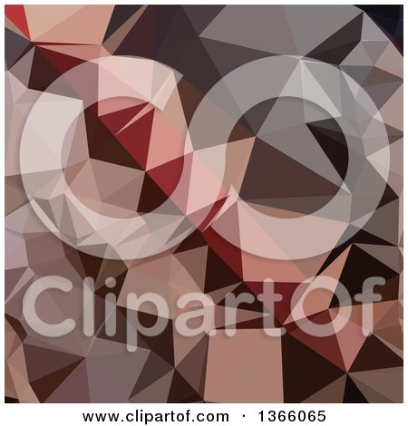Clipart of a Bulgarian Rose Low Poly Abstract Geometric Background - Royalty Free Vector Illustration by patrimonio