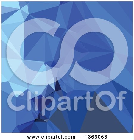 Clipart of a Brandeis Blue Low Poly Abstract Geometric Background - Royalty Free Vector Illustration by patrimonio
