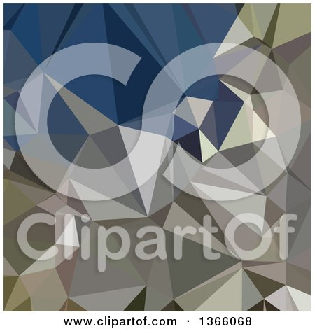 Clipart of an Ash Grey Low Poly Abstract Geometric Background - Royalty Free Vector Illustration by patrimonio
