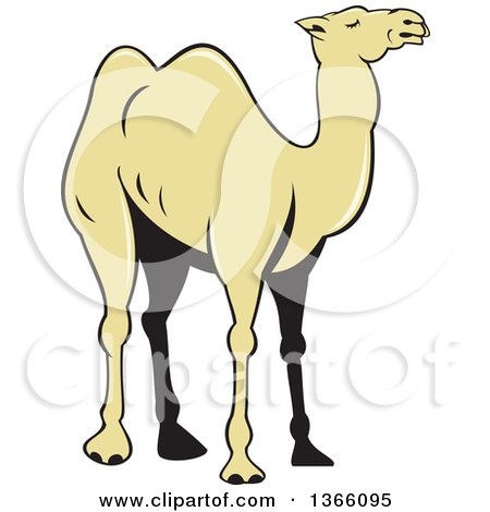 Clipart of a Cartoon Camel - Royalty Free Vector Illustration by ...