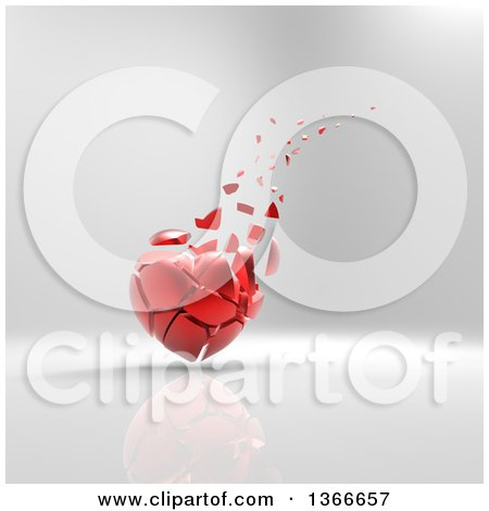 Royalty Free Rf Crumbling Heart Clipart Illustrations