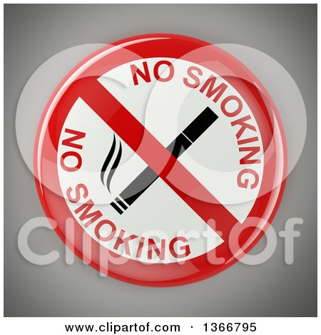 Clipart of a No Smoking Sign with a Cigarette, over Gray - Royalty Free Vector Illustration by stockillustrations