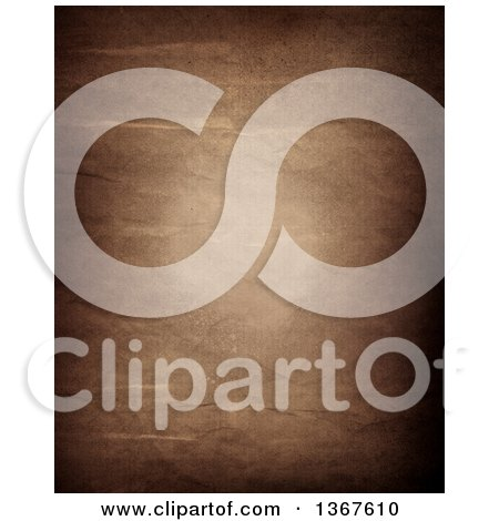 Clipart of a Background of Aged and Wrinkled Paper - Royalty Free Illustration by KJ Pargeter