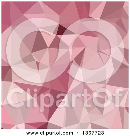 Clipart of a Low Poly Abstract Geometric Background in Carnation Pink - Royalty Free Vector Illustration by patrimonio