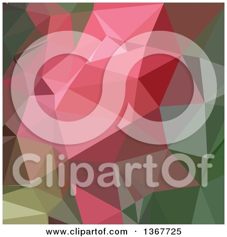 Clipart of a Low Poly Abstract Geometric Background in Congo Pink - Royalty Free Vector Illustration by patrimonio