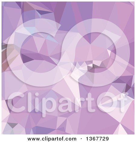 Clipart of a Low Poly Abstract Geometric Background in Electric Lavender - Royalty Free Vector Illustration by patrimonio