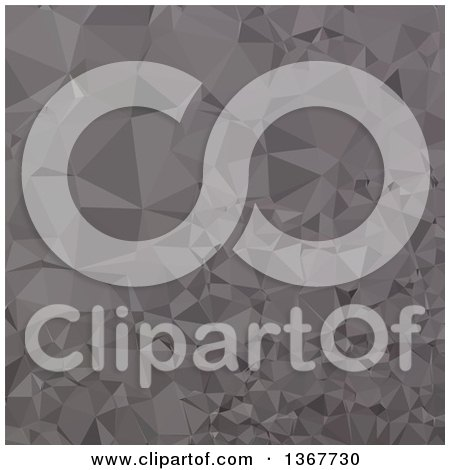Clipart of a Low Poly Abstract Geometric Background in Trolley Grey - Royalty Free Vector Illustration by patrimonio