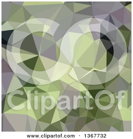 Clipart of a Low Poly Abstract Geometric Background in Asparagus Green - Royalty Free Vector Illustration by patrimonio