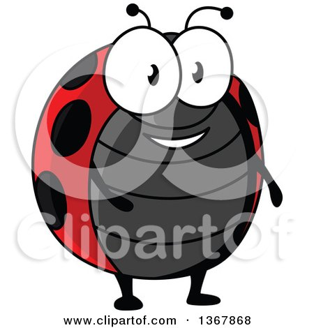 Clipart of a Cartoon Happy Ladybug - Royalty Free Vector Illustration by Vector Tradition SM