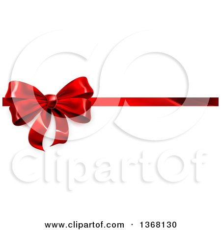 Clipart of a 3d Red Christmas, Birthday or Other Holiday Gift Bow ...
