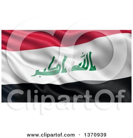 Clipart of a 3d Rippled Flag of Iraq - Royalty Free Illustration by stockillustrations