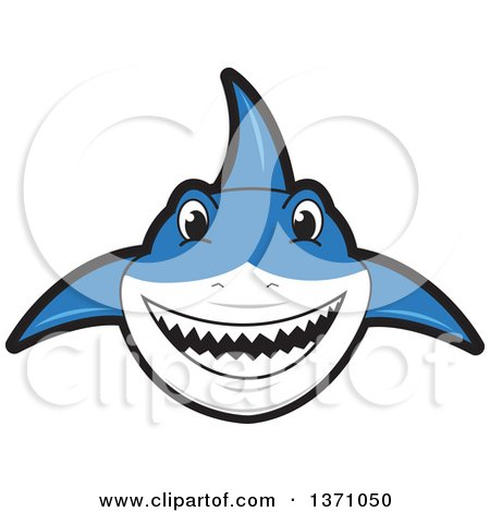 Clipart of a Shark School Mascot Character - Royalty Free Vector Illustration by Toons4Biz