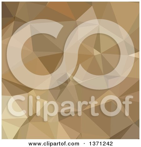 Clipart of a Low Poly Abstract Geometric Background in Burlywood Brown - Royalty Free Vector Illustration by patrimonio