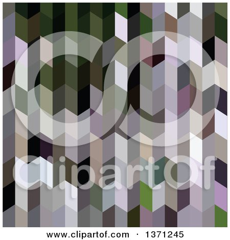 Clipart of an Abstract Geometric Background in Chinese Violet Purple - Royalty Free Vector Illustration by patrimonio