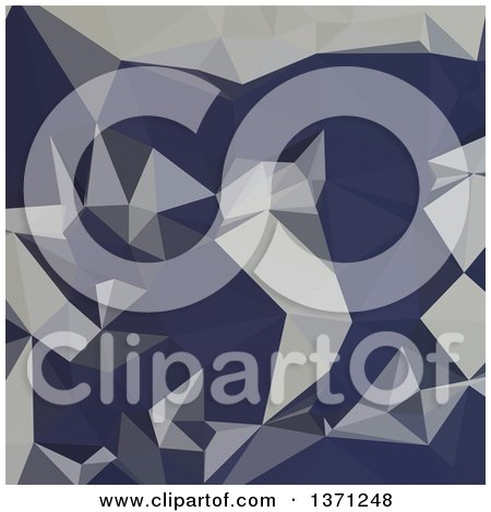 Clipart of a Low Poly Abstract Geometric Background in Cool Black Blue - Royalty Free Vector Illustration by patrimonio