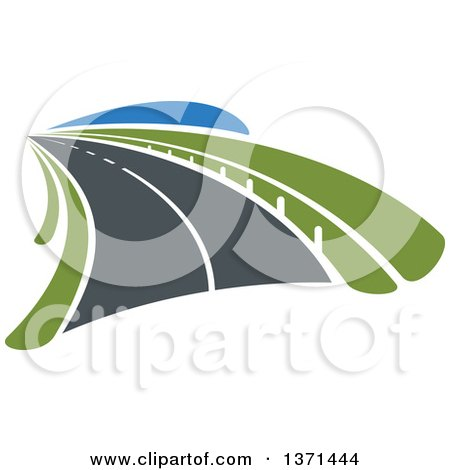 Clipart of a Highway Road - Royalty Free Vector Illustration by Vector Tradition SM