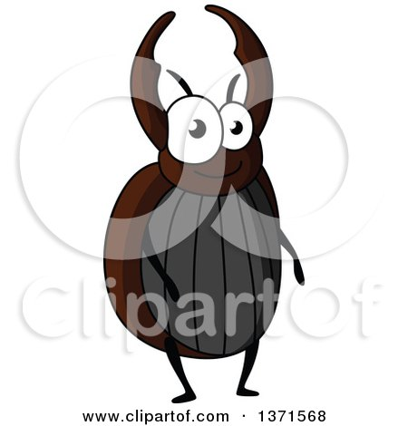 Clipart of a Cartoon Happy Stag Beetle - Royalty Free Vector Illustration by Vector Tradition SM