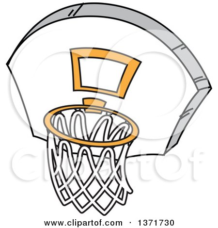 royalty free rf basketball clipart illustrations vector graphics 1 rh clipartof com basketball going into hoop clipart basketball hoop and net clipart