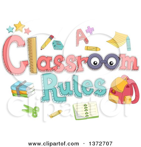 Clipart Of A Red Haired White Boy Looking At A Classroom