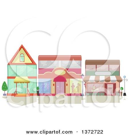 Clipart of Shop Facades - Royalty Free Vector Illustration by BNP Design Studio