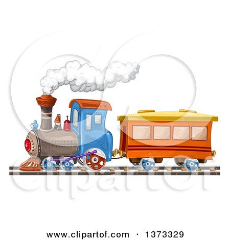 Clipart Of A Steam Engine Train Royalty Free Vector Illustration