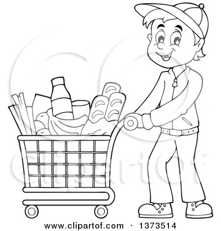 Grocery store cartoon coloring pages coloring pages for Grocery shopping coloring pages