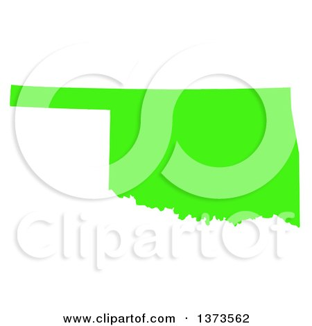 royalty free vector clip art illustration of a green silhouetted rh clipartof com oklahoma state clipart oklahoma clipart free