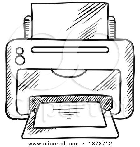 Computer Printer Clipart