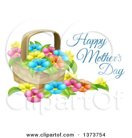 Mother's Day Basket Clip Art