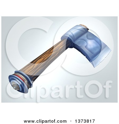 Clipart of a Medieval Wooden Handled Axe, on a Gradient Background  Royalty Free Illustration by Tonis Pan