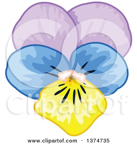 royalty free rf pansy clipart illustrations vector graphics 1 rh clipartof com pansy flower free clipart pansy clipart black and white