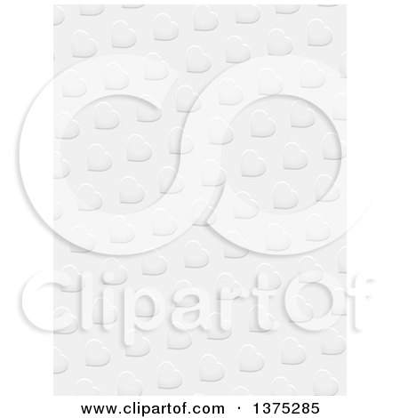 Clipart Of A Valentines Day Background Of Love Hearts In Grayscale Royalty Free Vector Illustration
