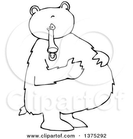 Cartoon standing bear coloring pages ~ Royalty-Free (RF) Clipart of Coloring Pages, Illustrations ...