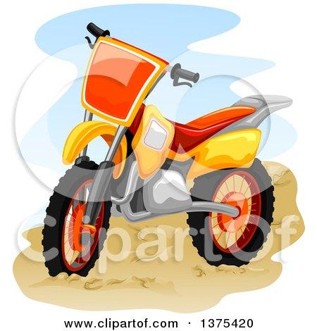 Clipart of a Motocross Bike - Royalty Free Vector Illustration by BNP Design Studio
