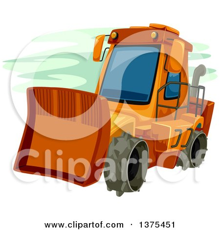 Orange Bulldozer Posters, Art Prints