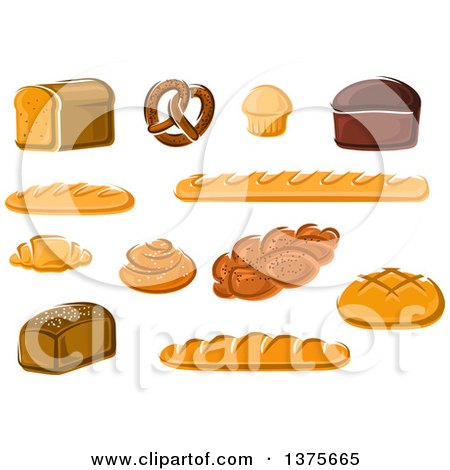 Clipart of Breads - Royalty Free Vector Illustration by Vector Tradition SM
