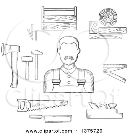 Hammer And Nails Clipart Black And White