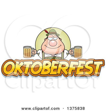 Clipart of a Happy Oktoberfest German Man - Royalty Free Vector Illustration by Cory Thoman