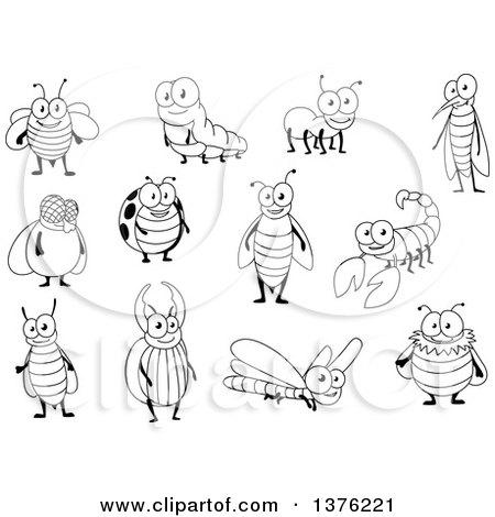 Cartoon Happy Mosquito 1377924