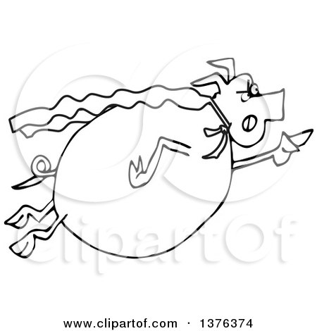 Royalty Free Stock Illustrations of Pigs by Dennis Cox Page 1